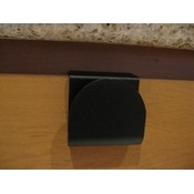 Arch Slide On Handle Cabinet Hardware - Black 2 pack
