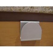 Arch Slide On Handle Cabinet Hardware- Nickel 2 pack