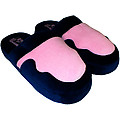 Navy and Pink Scuff Slipper