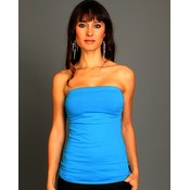 Sky Blue Sleek Sleeveless Top
