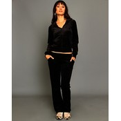 Black Velour Lounge Wear Set Wholesale Bulk