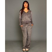 Gray Velour Lounge Wear Set Wholesale Bulk