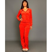 Orange Velour Lounge Wear Set Wholesale Bulk