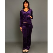Purple Velour Lounge Wear Set Wholesale Bulk