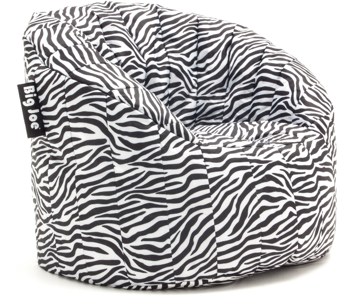 Wholesale Big Joe Lumin Bean Bag Chair SmartMax Zebra SKU 1794724 DollarDays