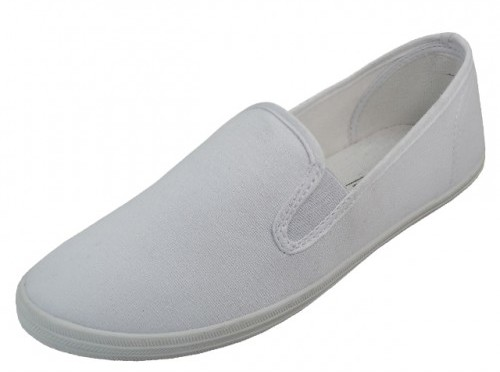 Women's White Color Slip on Canvas SHOES (Size 6-11) (1934237)