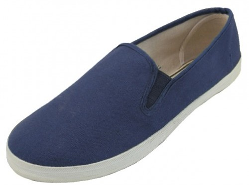 Men's Slip on Canvas SHOES Navy Color (24 pairs) (1934240)