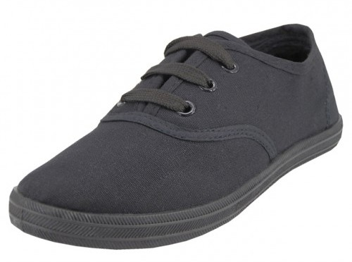 Youth Black/Black Canvas SHOES (Size 11-4) (1934242)