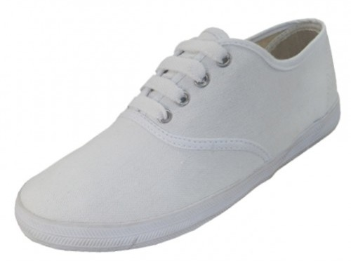 Youth White Canvas SHOES Sizes 11-4 (1934243)