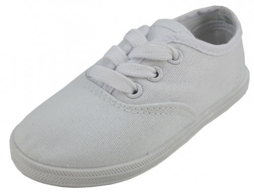Toddlers' White Canvas SHOES (Size 5-10) (1934245)