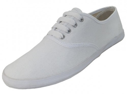 Women's White Canvas SHOES - Sizes 5-10 (1902440)