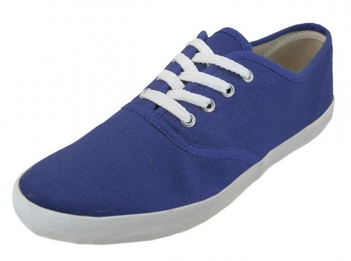 Men's Navy Color Canvas SHOES (24 pairs) [1934255]