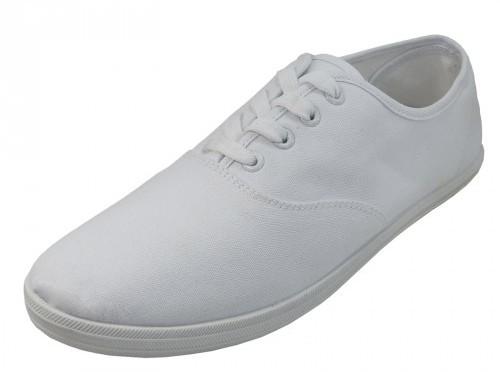 Men's White Color Canvas SHOES (24 pairs) [1934256]