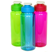 21 Oz Plastic Water Bottle - Flip Top