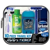 Men's Travel Bag 9 Piece Clear