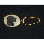 Labrador Retriever Oval Keychain