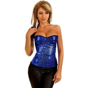 Sequin Underwire Zipper Corset Top 2X