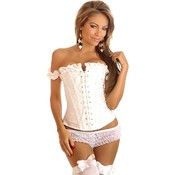 Embroidered Peasant Top Corset M