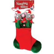 Singing Mice Christmas Stocking Sings: We Wish You A Merry Christmas