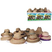Straw Hats Assorted Six Styles-Lifeguard, Golfer, Gardening,