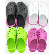 Ladies PVC Water Shoes- Assorted Colors/Sizes