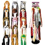 Animal Head Hats w/Scarf and Gloves- 6 Styles