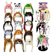 Animal Head Hats 9 Assorted Styles Mixed Case