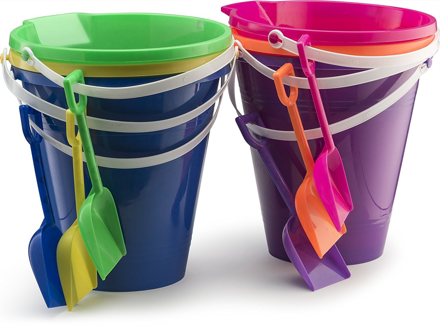 ''Assorted 9'''' Sand Bucket Set With Shovel BEACH TOY [2274881]''