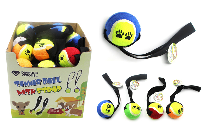 Dog Toy - TENNIS BALL with Strap [1980803]
