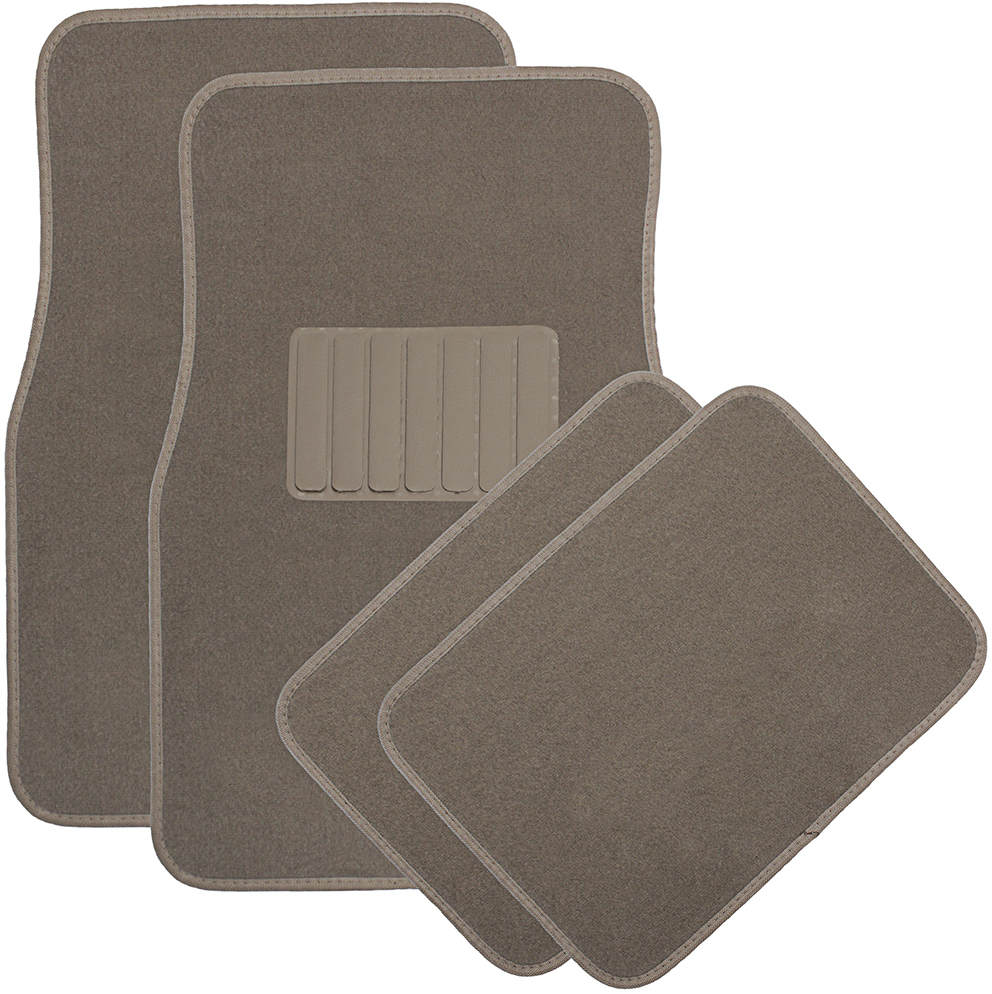 4pc Solid Beige Carpet Auto FLOOR MATs (1994648)