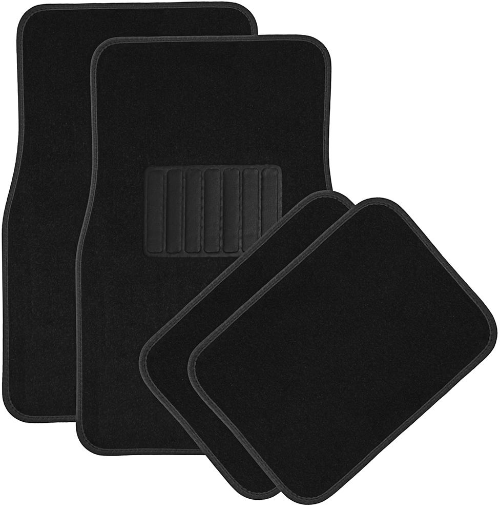 4pc Solid Black Carpet Car FLOOR MATs (1994649)