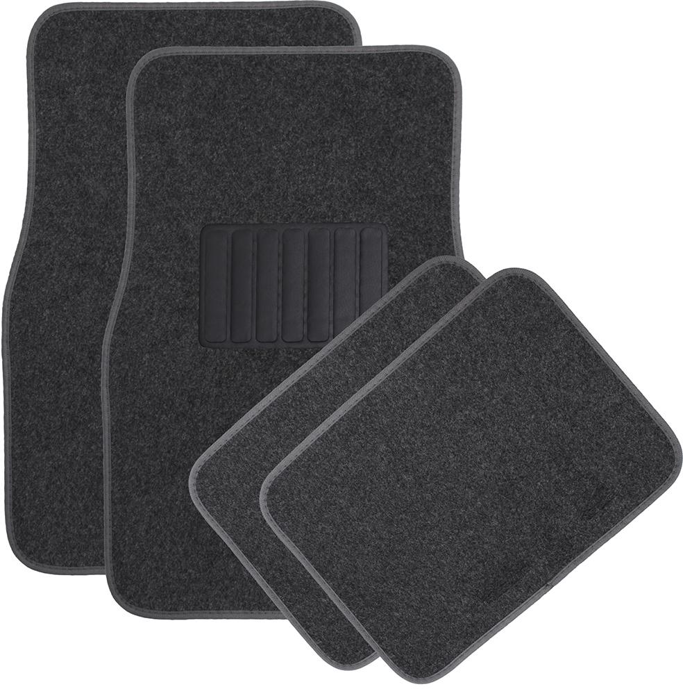 Solid Charcoal Carpet Auto FLOOR MATs (1994650)