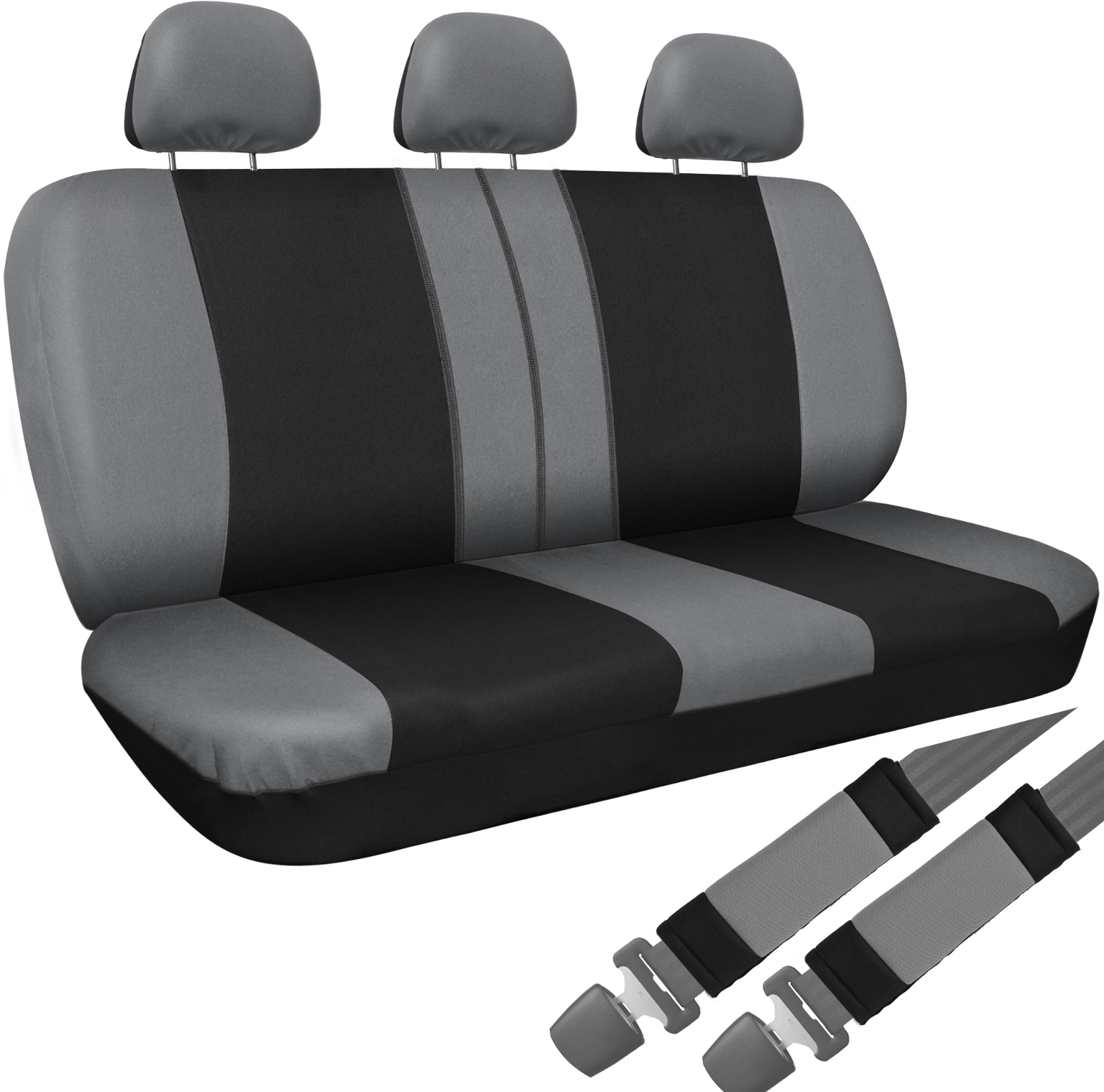 Wholesale Car SUV Van Truck Seat Cover Black 8pc Set Bench