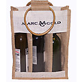 Marc Gold Wine Bottle Bag