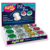 Animal Print Light Up Pill Box