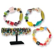 Baubles Glass  Stretch Bracelet - Lead Safe
