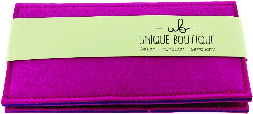 Unique Boutique Felt WALLET - Pink [1988047]