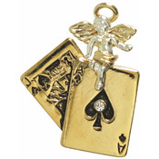 Lucky Angel Tac Pin Black Jack