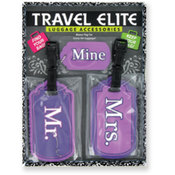 Travel Elite 3 Pack Luggage Tags Wholesale Bulk