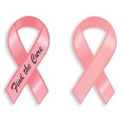 "BCA   8 "" Find the Cure Magnetic Ribbon"