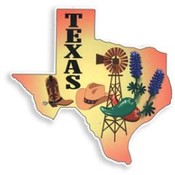 State of Texas Car Magnet