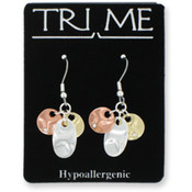 TRI ME Triad Drop Earrings Wholesale Bulk