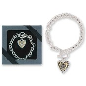 Tender N' True Silver Finish Heart Bracelet