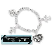 My Guardian Angel Heart Charm Bracelet