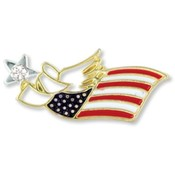 Wings and Wishes Patriotic Angel Pin