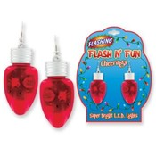 Flash N&#39; Fun-Assorted Light-Up Light Bulb Earrings