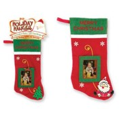 Holiday Stocking With Photo/Gift Card Holder