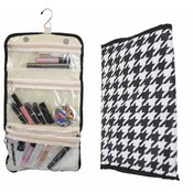 48 Folding/Hanging Cosmetic Organizers-Houndstooth