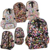 "19"" Assorted Print Backpacks"
