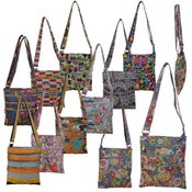 "Womans 8"" Cross Body Bag - Assorted Prints"
